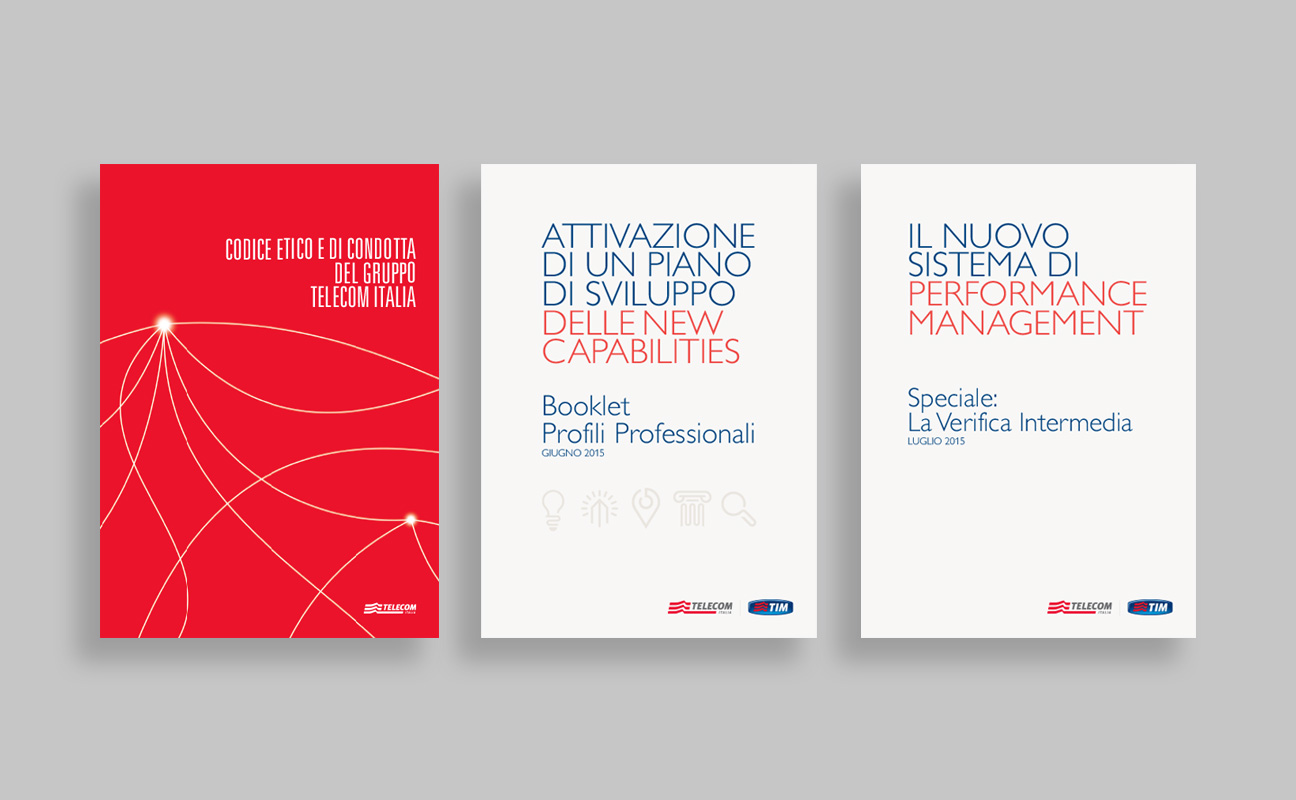 Telecom Italia printed products and advs.